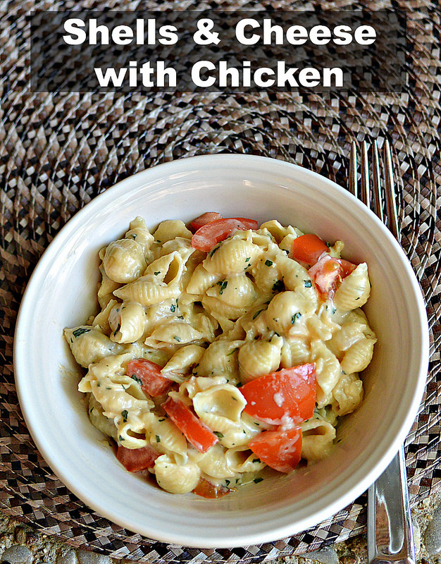 Shells & Cheese with Chicken - Three Different Directions