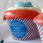 4th of July Free Printable Cupcake Wrappers