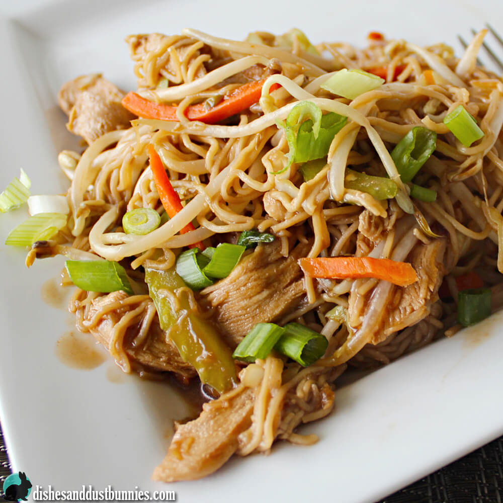 Easy Chicken Chow Mein from Dishes & Dust Bunnies
