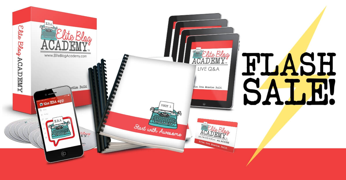 Elite Blog Academy Course Flash Sale