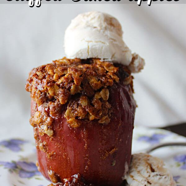 Apple Crumble Baked Stuffed Apples + a vacation Update!