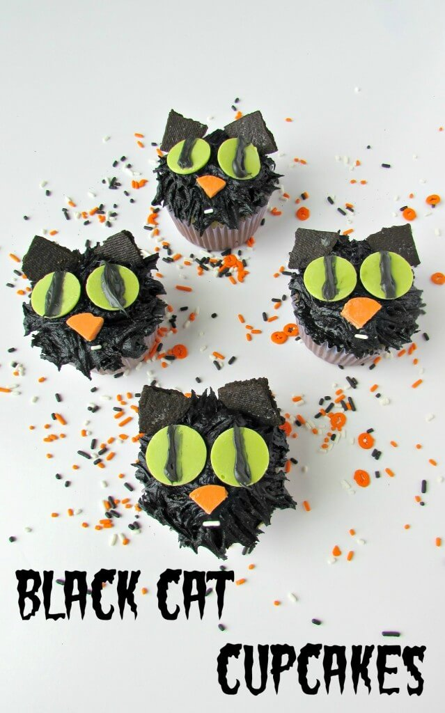 Black Cat Cupcakes from Val Event Gal