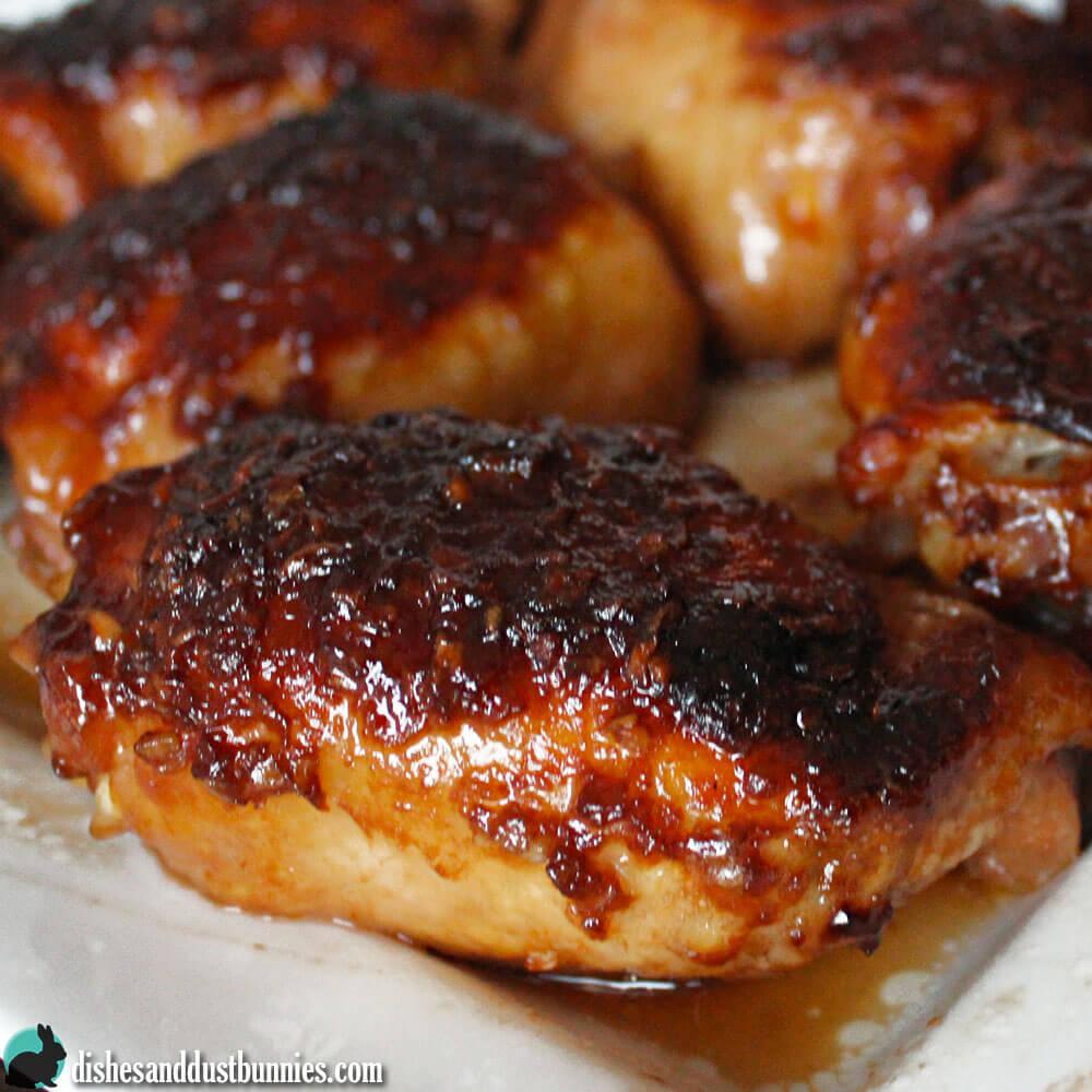 Honey Garlic Chicken from Dishes & Dust Bunnies
