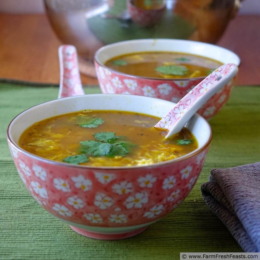 Thai Turkey Cold Busting Hot and Sour Egg Drop Soup from Farm Fresh Feasts