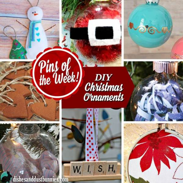Make these Awesome DIY Christmas Ornaments! – Pins of the Week!