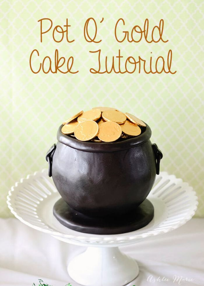 Pot O' Gold Cake Tutorial from Ashlee Marie