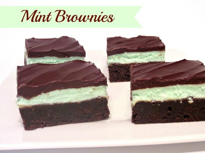 Chocolate Mint Brownies from Love to Be In The Kitchen