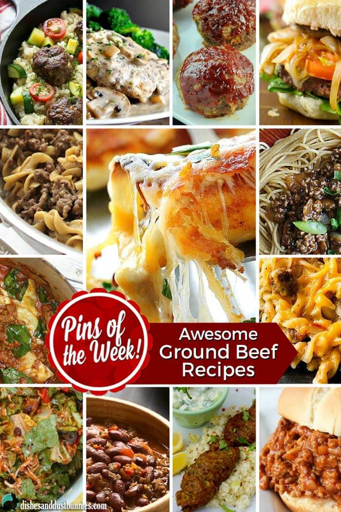 Awesome Ground Beef Recipes - Pins of the Week! from dishesanddustbunnies.com