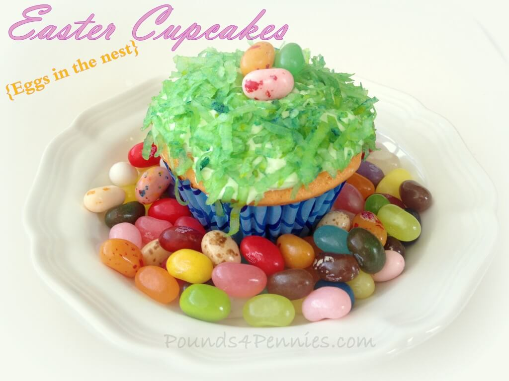 Easy Easter Cupcake Ideas – Easter Egg Nests from Mainly Homemade