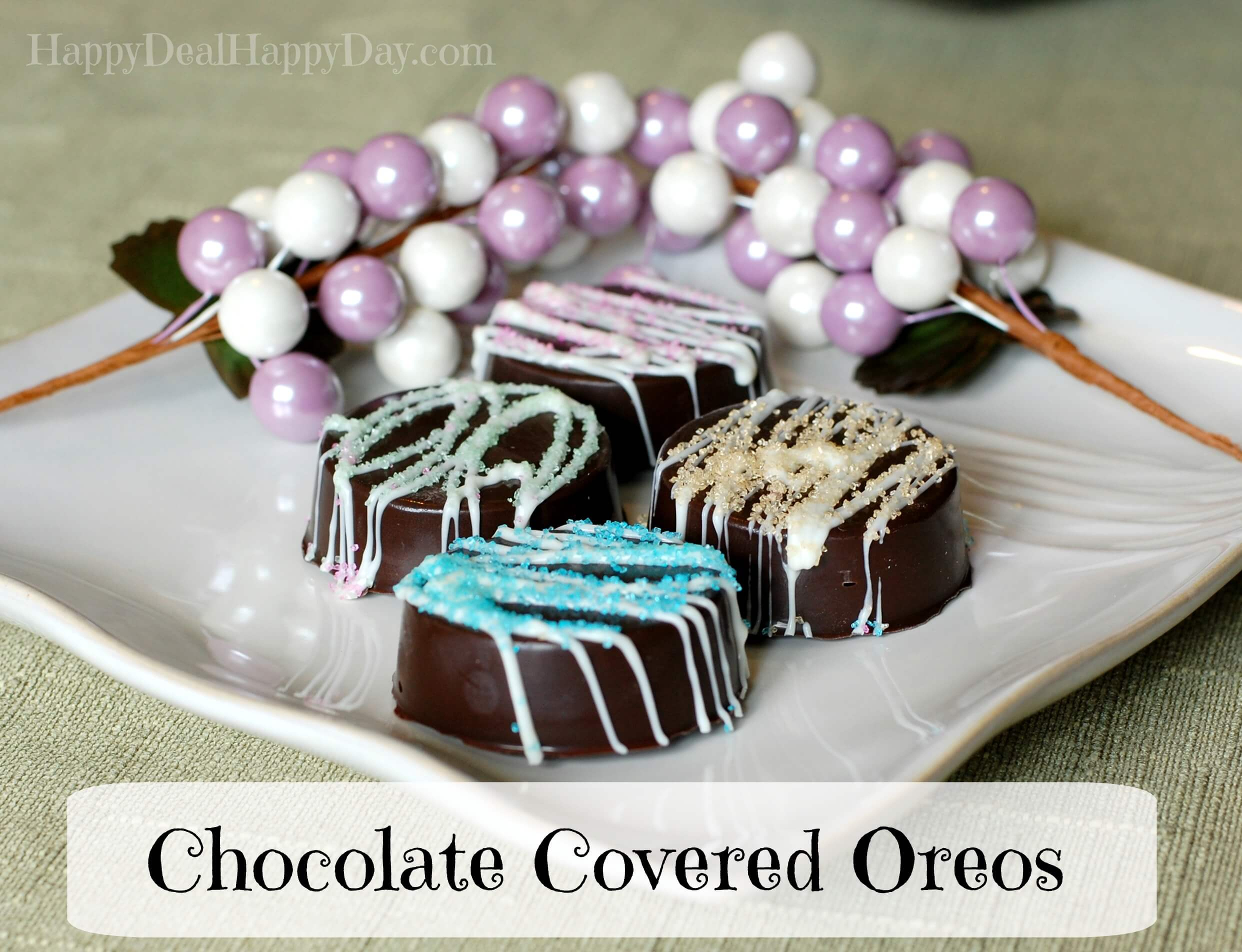 Chocolate Covered Oreos – Spring Version! from Happy Deal – Happy Day!