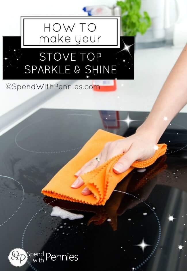 How to Make Your Stove Top Sparkle & Shine from Spend with Pennies