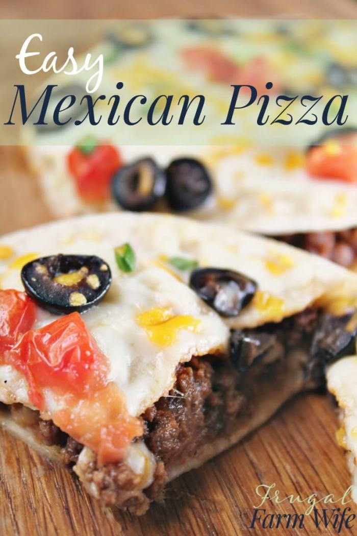 Easy Mexican Pizza from Frugal Farm Wife