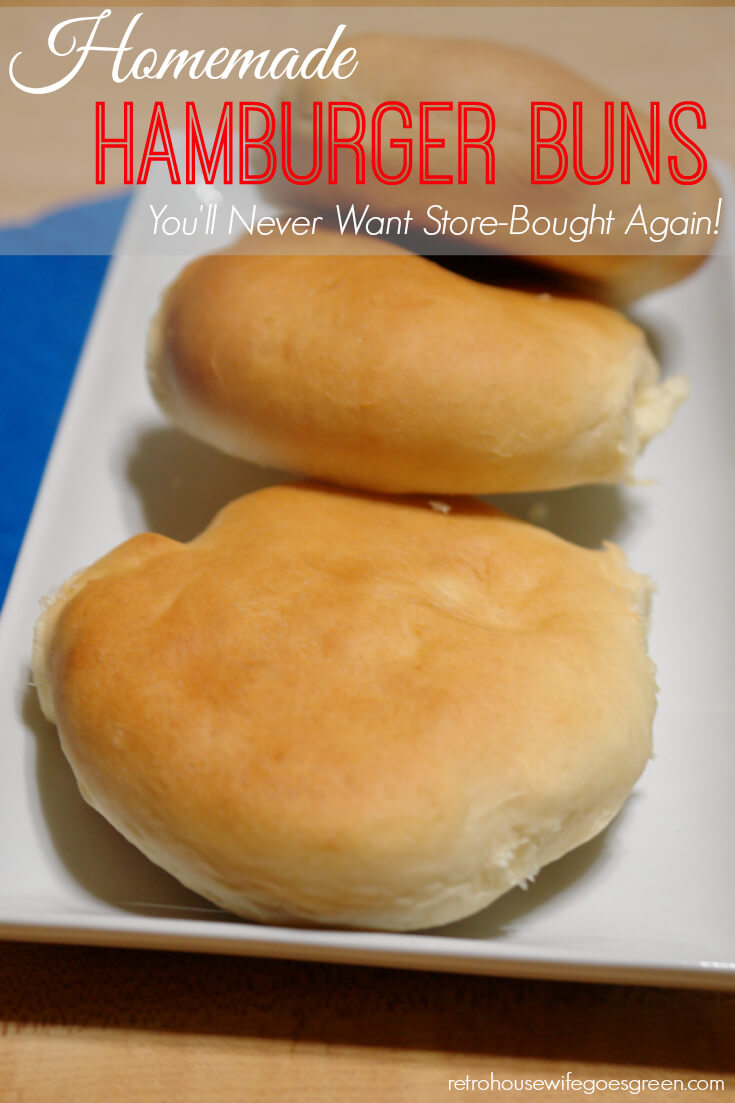 Homemade Hamburger Buns from Retro Housewife Goes Green