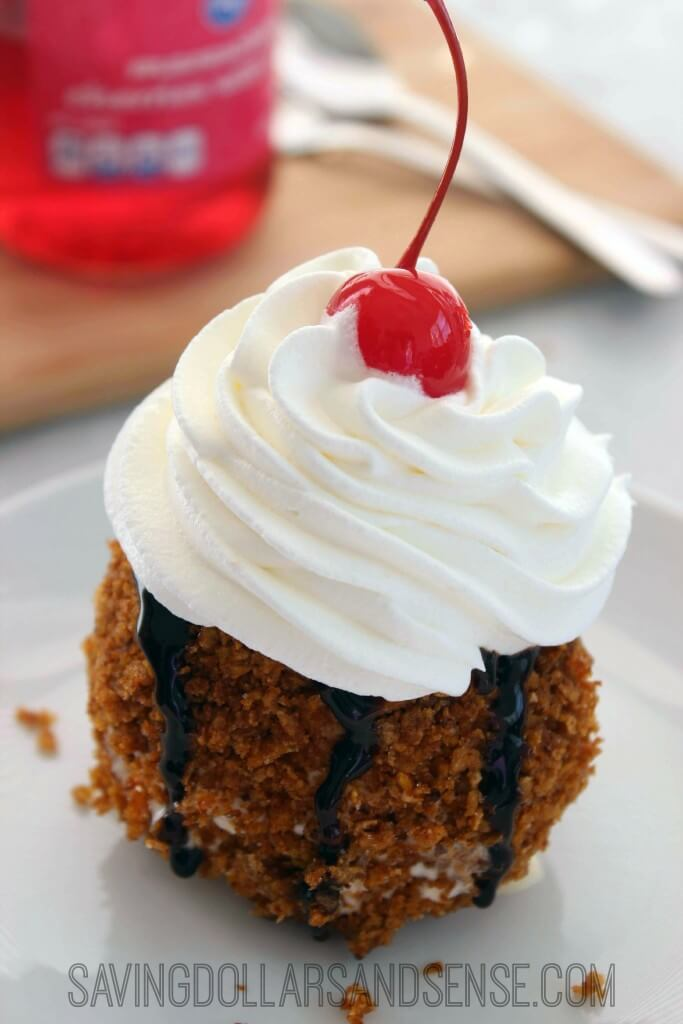 No-Fry Fried Ice Cream Recipe from Saving Dollars & Sense