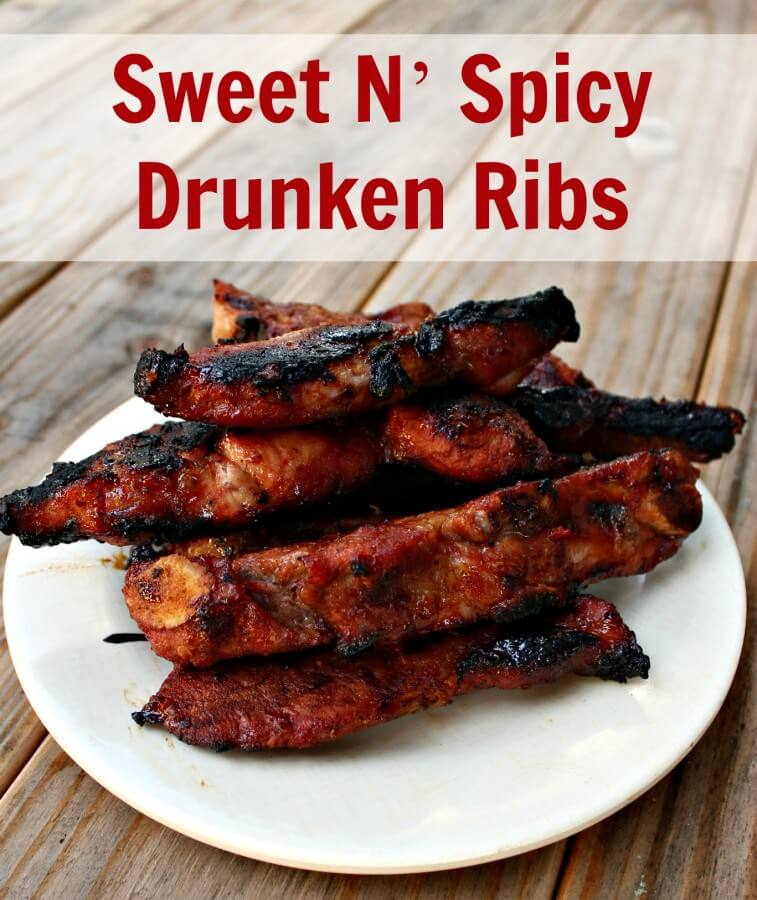 Sweet And Spicy Drunken Ribs from Thinking Outside the Sandbox Family