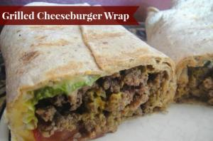 Grilled Cheeseburger Wrap from Organize Yourself Skinny