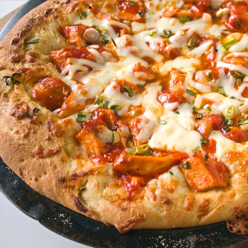 Buffalo Chicken Pizza from Dishes & Dust Bunnies