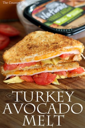 Turkey Avocado Melt from Country Chic Cottage