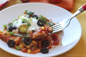 Easy Mexican Ravioli Lasagna from Two Healthy Kitchens