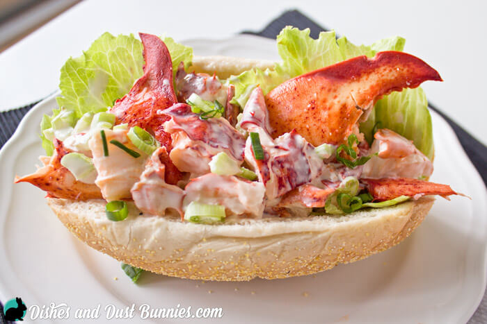 Lobster Roll from dishesanddustbunnies.com