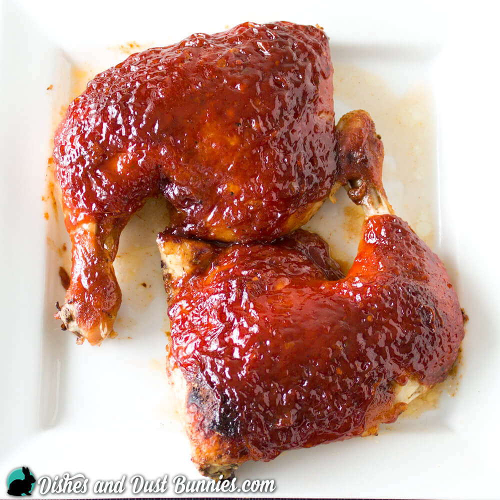 Honey BBQ Chicken from dishesanddustbunnies.com