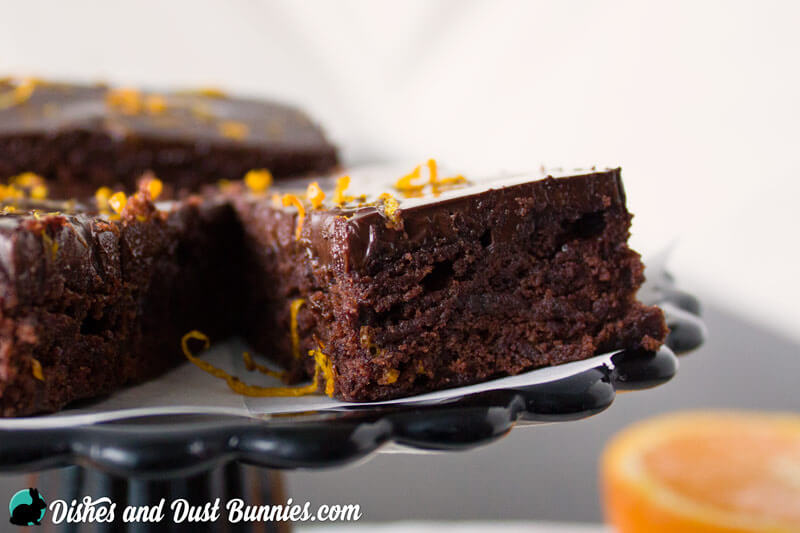 Chocolate Orange Brownies from dishesanddustbunnies.com