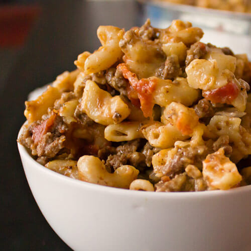 Cheeseburger Macaroni from Dishes & Dust Bunnies