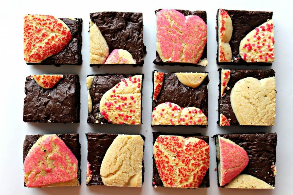 Sugar Cookie Valentine Brownies from The Monday Box