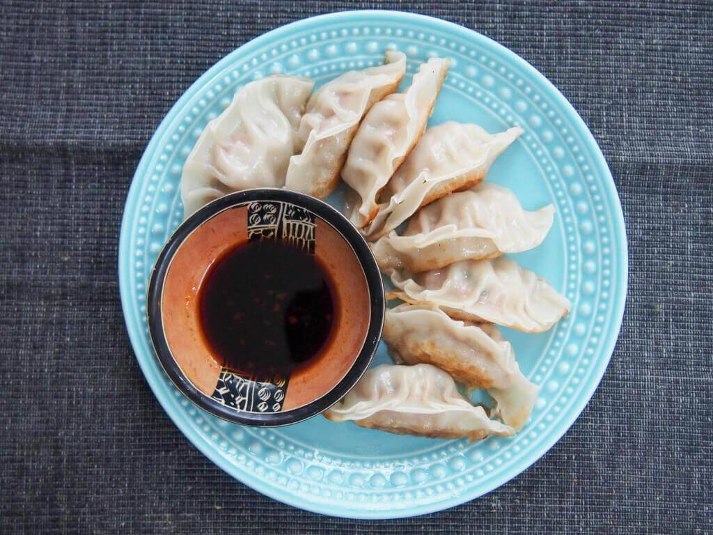 Chinese Pork and Cabbage Dumplings from Caroline's Cooking