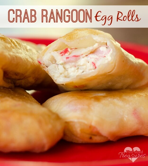 Crab Rangoon Egg Rolls from Thrifty DIY Diva