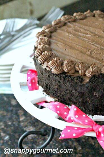 Insane Brownie Chocolate Cake from Snappy Gourmet