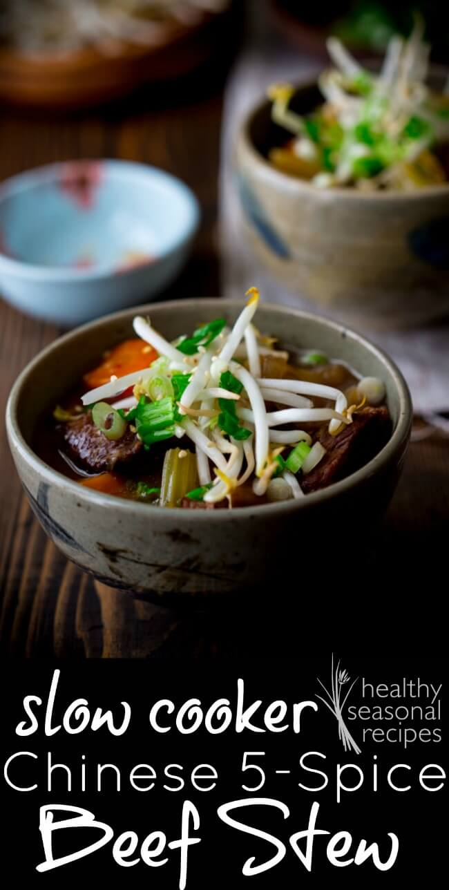 Slow Cooker Chinese 5 Spice Beef Stew from Healthy Seasonal Recipes