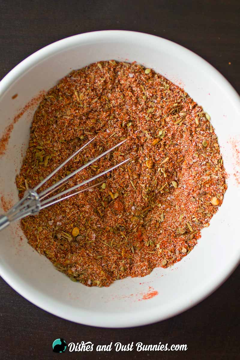 Homemade Cajun Seasoning Mix from dishesanddustbunnies.com