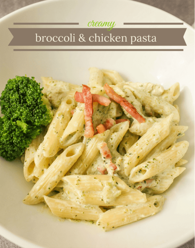 Creamy Broccoli & Chicken Pasta from Home Life Abroad