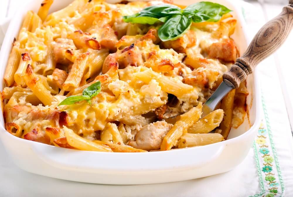 Instant Pot Double Cheese Chicken Rigatoni Bake from Recipe This