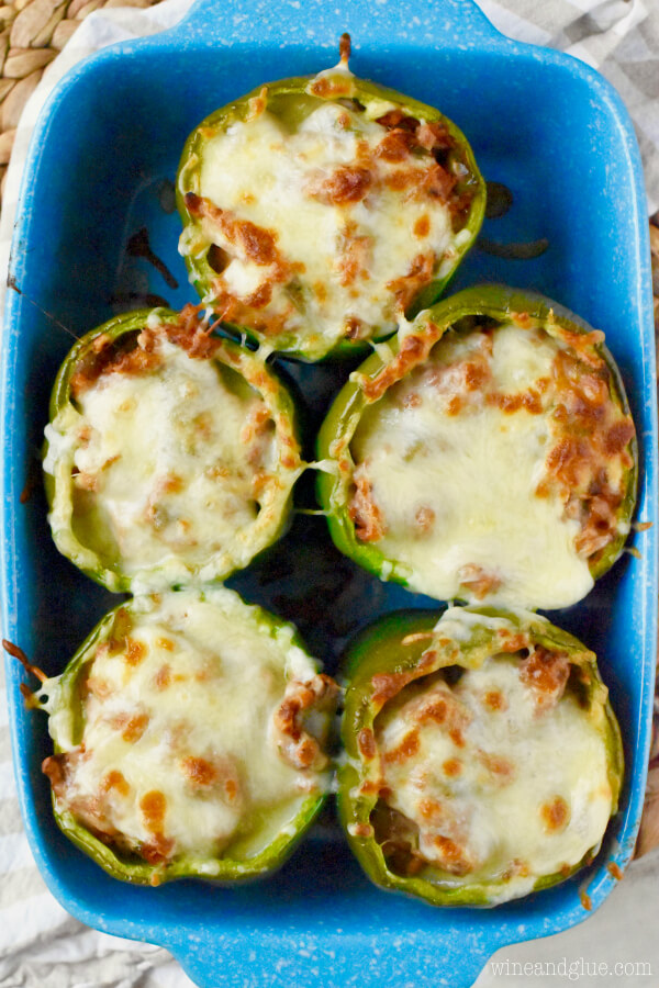 Italian Stuffed Peppers from Wine and Glue