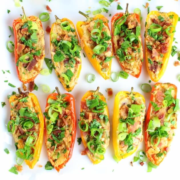 Cheesy Ranch Stuffed Mini Peppers from Taste and See