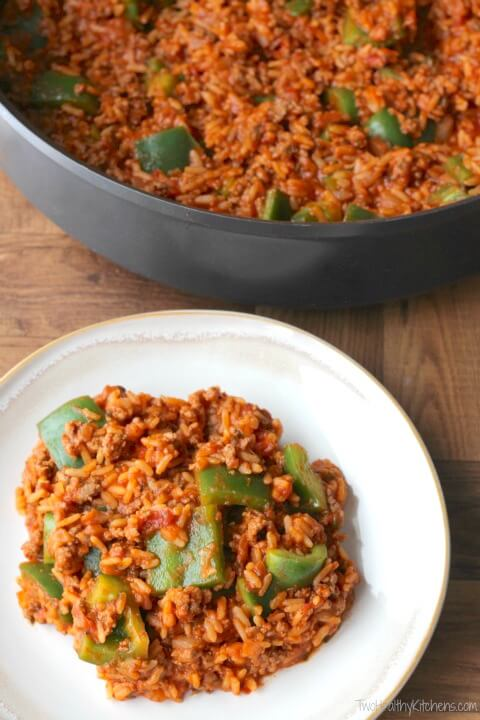 Un-Stuffed Pepper Skillet from Two Healthy Kitchens