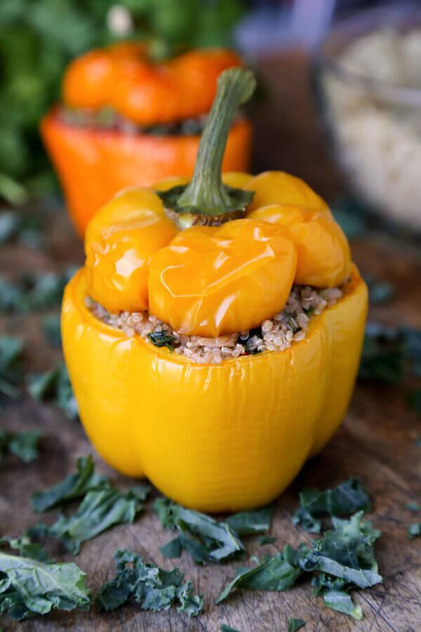 Quinoa Stuffed Pepper Recipe from Pickled Plum