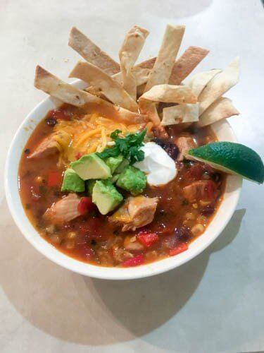 Instant Pot Chicken Tortilla Soup from My World Simplified