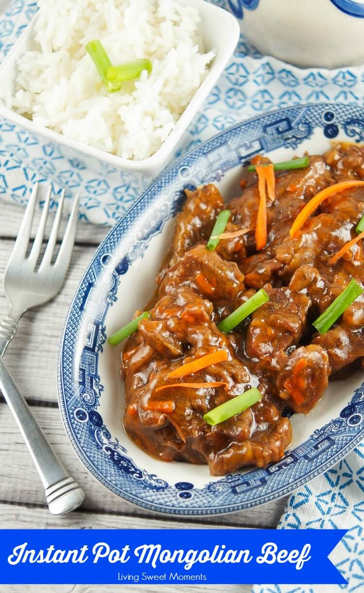 Melt in Your Mouth Instant Pot Mongolian Beef from Living Sweet Moments