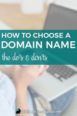 How to Choose a Domain Name for your Blog - from dishesanddustbunnies.com