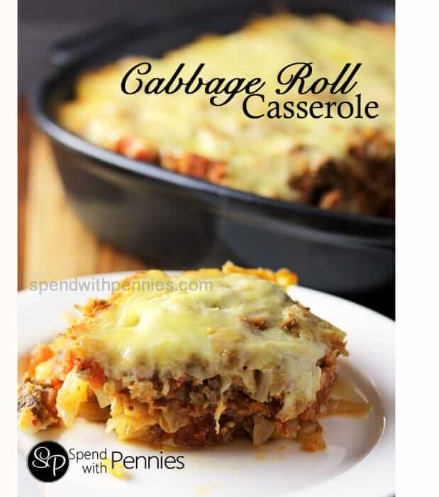 Cabbage Roll Casserole from Spend with Pennies