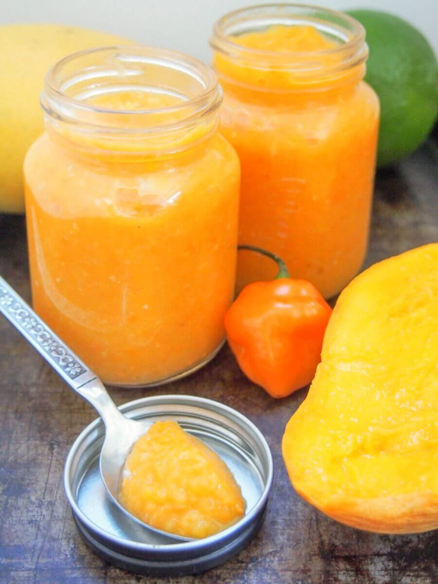 Mango habanero sauce from Caroline's Cooking