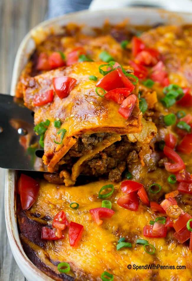 Beef Enchilada Casserole from Spend with Pennies