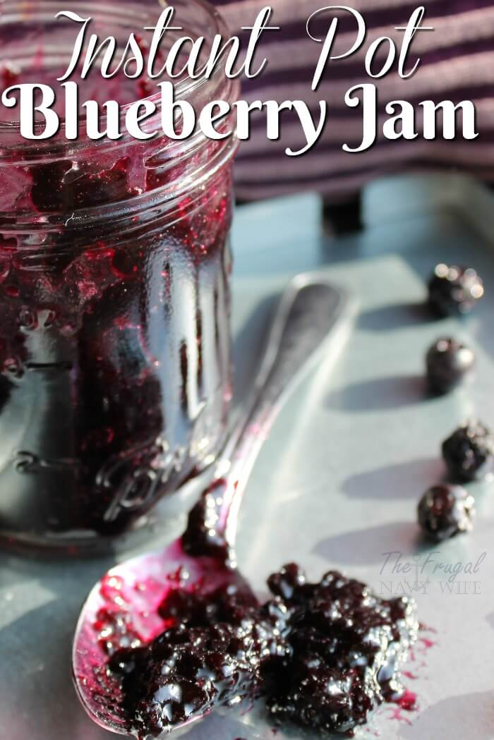 The Best Instant Pot Blueberry Jam Recipe EVER! from The Frugal Navy Wife