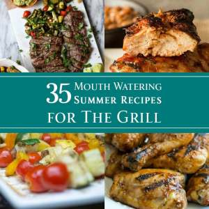 35 Mouth Watering Summer Recipes for the Grill - dishesanddustbunnies.com