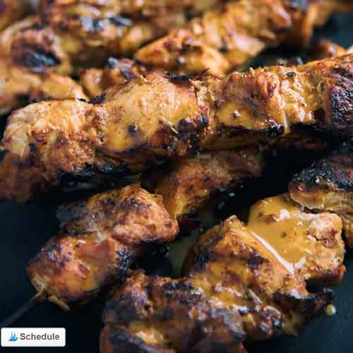 Thai-Style Spicy Grilled Chicken Skewers from Paleo Leap