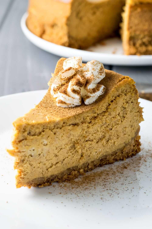 Classic Pumpkin Spice Cheesecake from Homemade Hooplah