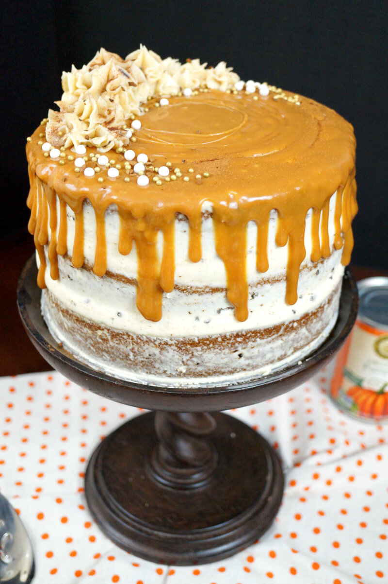 Pumpkin Spice Latte Layer Cake from The Baking Fairy